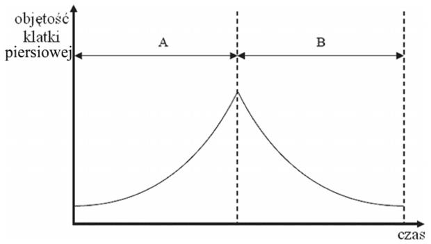Wymiana gazowa - wykres